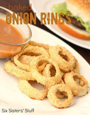 Low Fat Baked Onion Rings & Amazing Sauce
