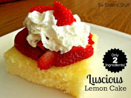 2-Ingredient Luscious Lemon Cake