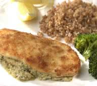 Cream Cheese and Pesto Stuffed Chicken