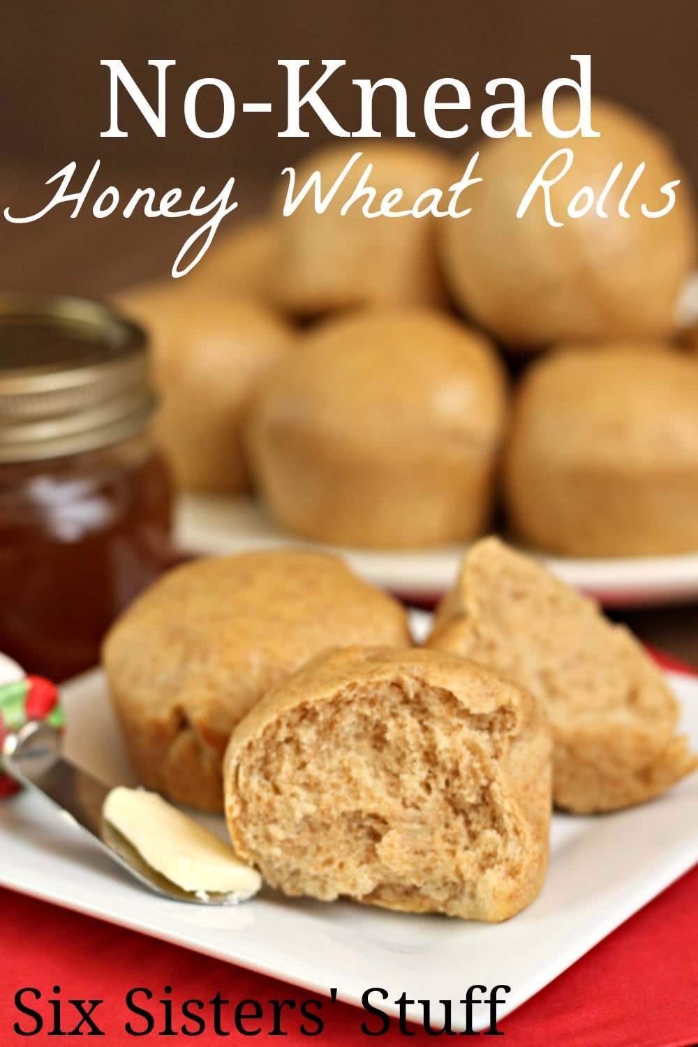 No-Knead Honey Wheat Rolls Recipe