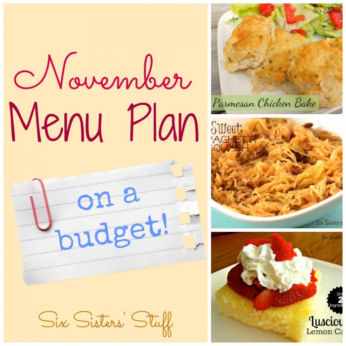 November Menu Plan on a Budget
