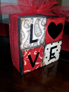 Valentine's LOVE Blocks