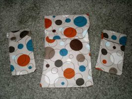 Easy Fabric Velcro Pouches