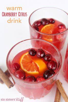 Warm Cranberry Citrus Drink