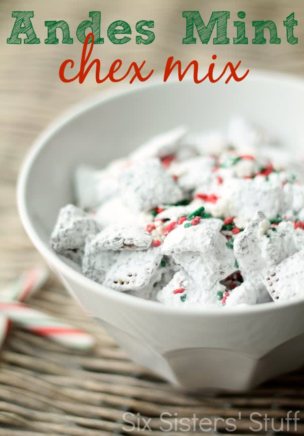 Andes Mint Chex Mix Muddy Buddies Recipe