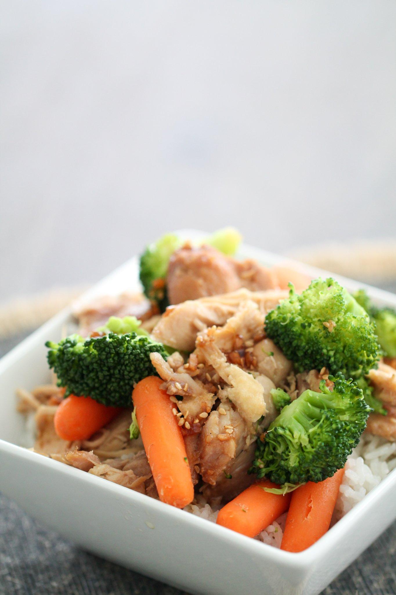 Slow Cooker Teriyaki Chicken Bowls Recipe