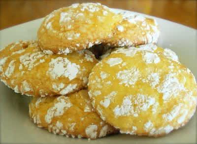 Lemon Cool-Whip Crinkle Cookies