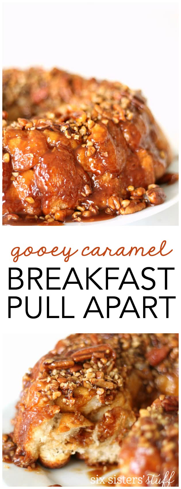 Gooey Caramel Breakfast Pull Apart from SixSistersStuff.com. My family LOVES this!