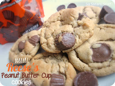 Mini Reese's Peanut Butter Cup Cookies