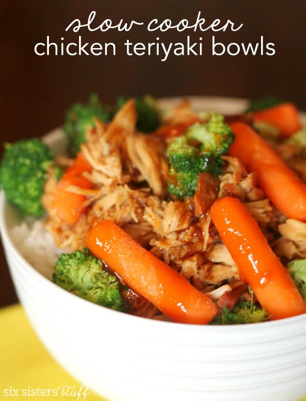 Slow Cooker Chicken Teriyaki Bowls