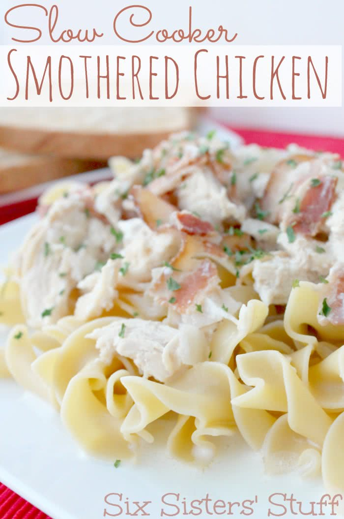 Slow Cooker Bacon Smothered Chicken