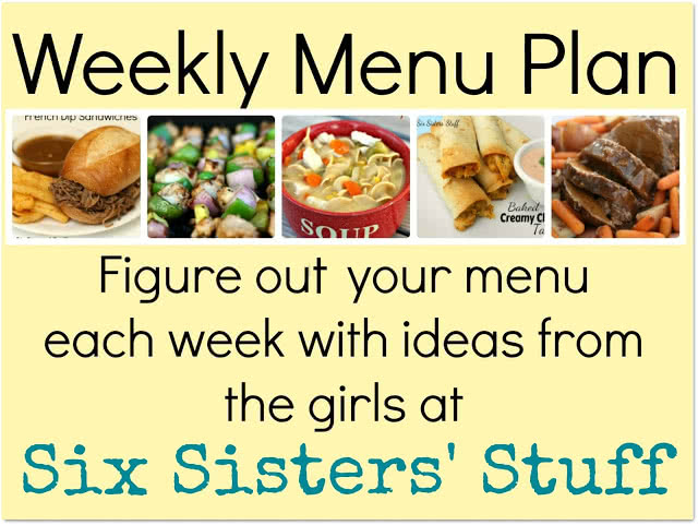 Six Sisters' Weekly Menu Plan #3