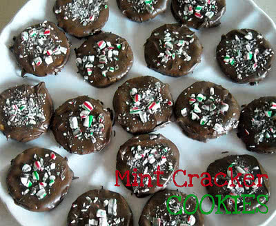Easy Chocolate Thin Mint Ritz Crackers Cookies Recipe