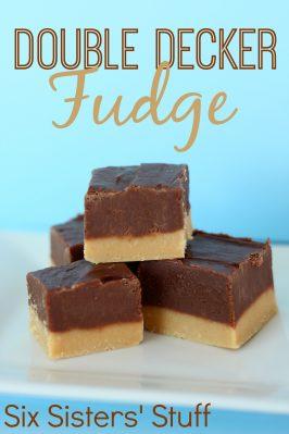 Double Decker Chocolate Peanut Butter Fudge