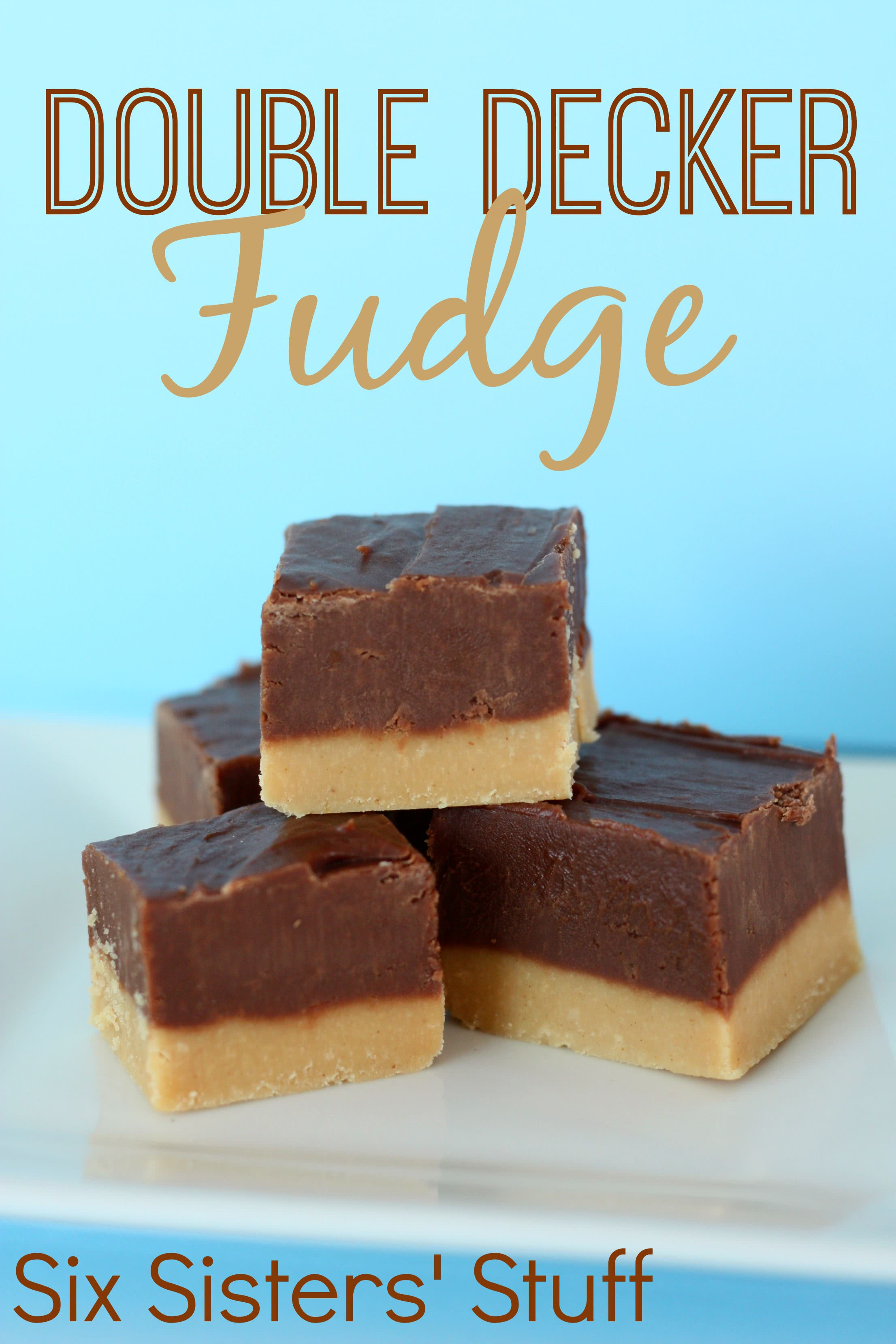 double decker chocolate peanut butter fudge