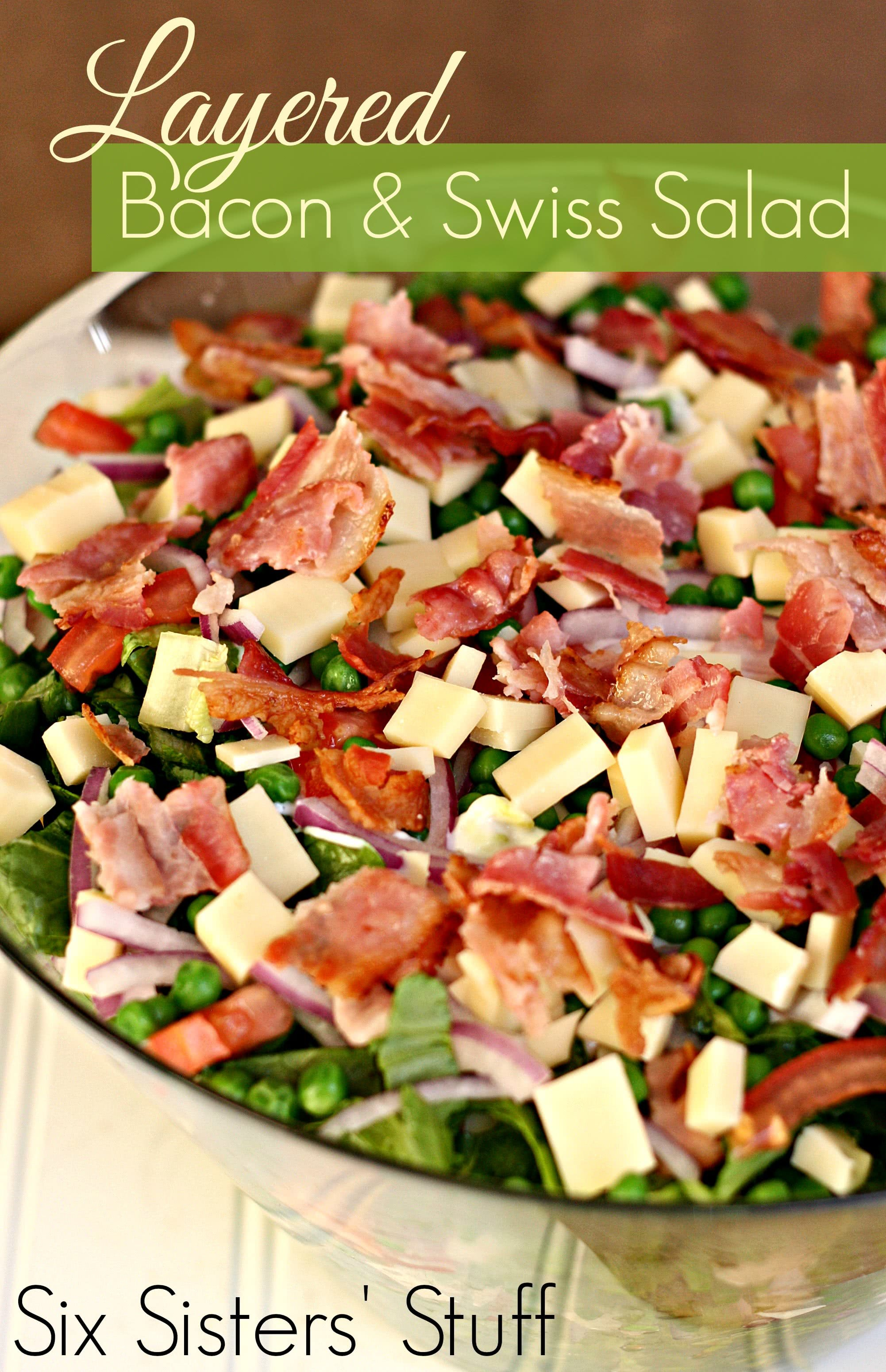 Layered Bacon and Swiss Green Salad Recipe