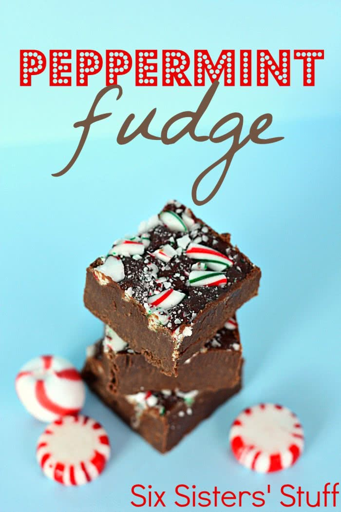 Peppermint Candy Cane Fudge Recipe