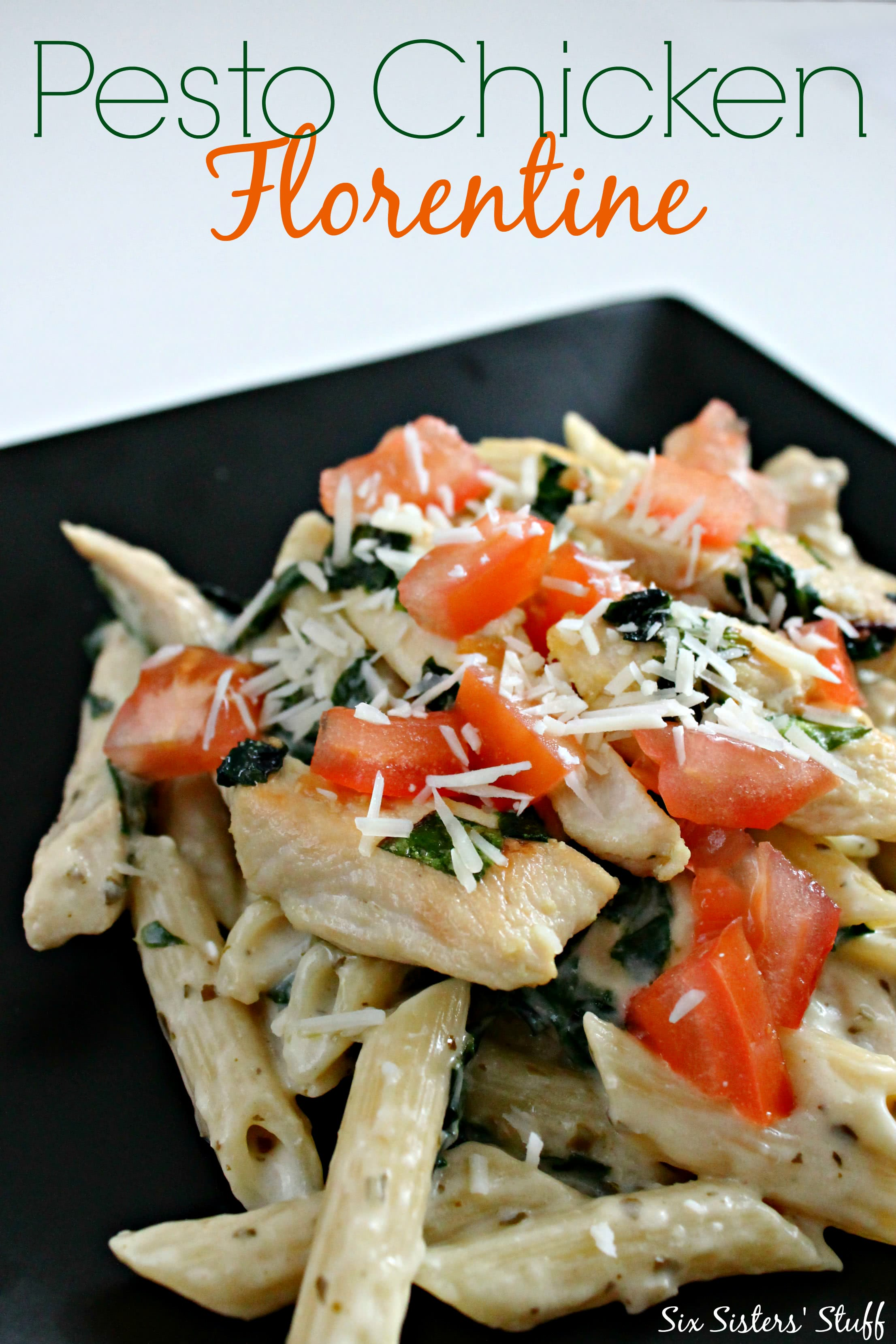 Chicken Florentine Pesto Pasta Recipe — Dishmaps