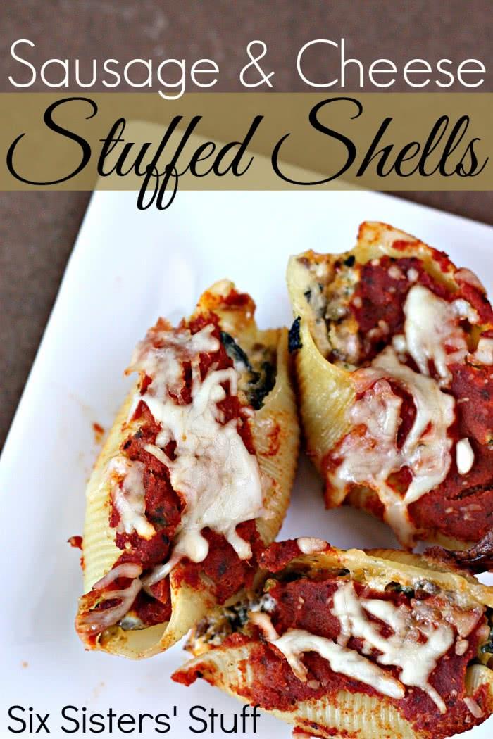 Sausage and Cheese Stuffed Shells Recipe