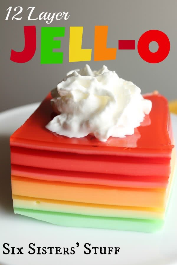12 Layer Christmas Jello Salad Recipe