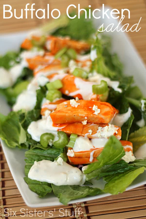 Buffalo Chicken Salad Recipe with Tyson® Grilled & Ready® chicken breast strips