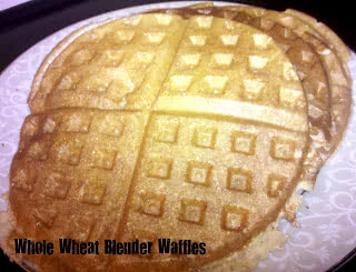 Heathly Meals Monday: Soft Whole Wheat Blender Waffles