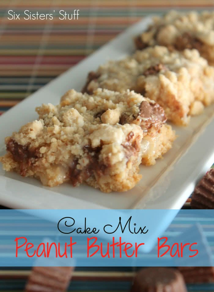 Cake Mix Peanut Butter Bars Recipe