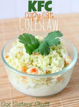 KFC Copycat Coleslaw Recipe