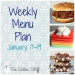 Weekly Menu Plan January 13-19