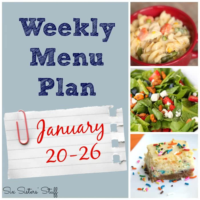 Weekly Menu Plan January 20-26