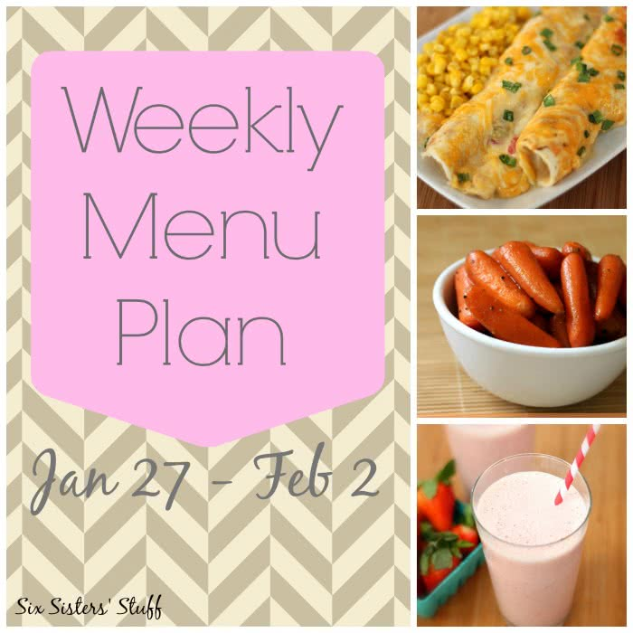 Weekly Menu Plan January 27- February 2