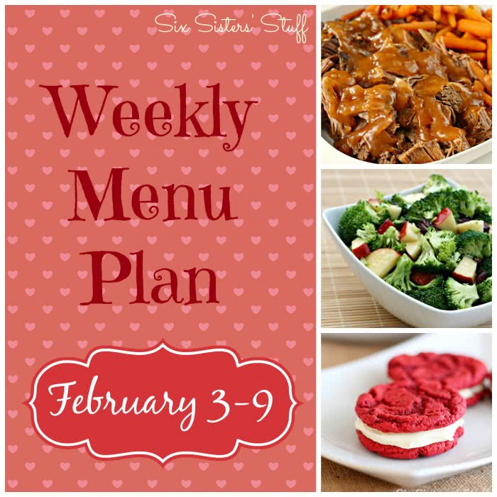 Weekly Menu Plan February 3-10