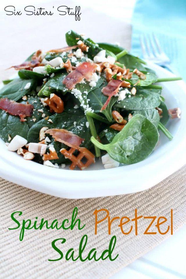 Spinach Pretzel Salad Recipe