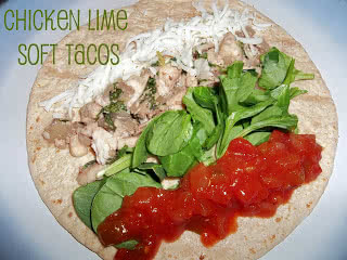 chicken lime soft taco