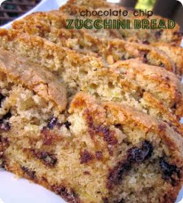 Moist Chocolate Chip Zucchini Bread
