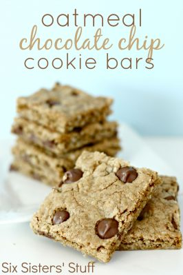 Oatmeal Chocolate Chip Cookie Bars Recipe