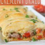 Cheese Steak Crescent Braid