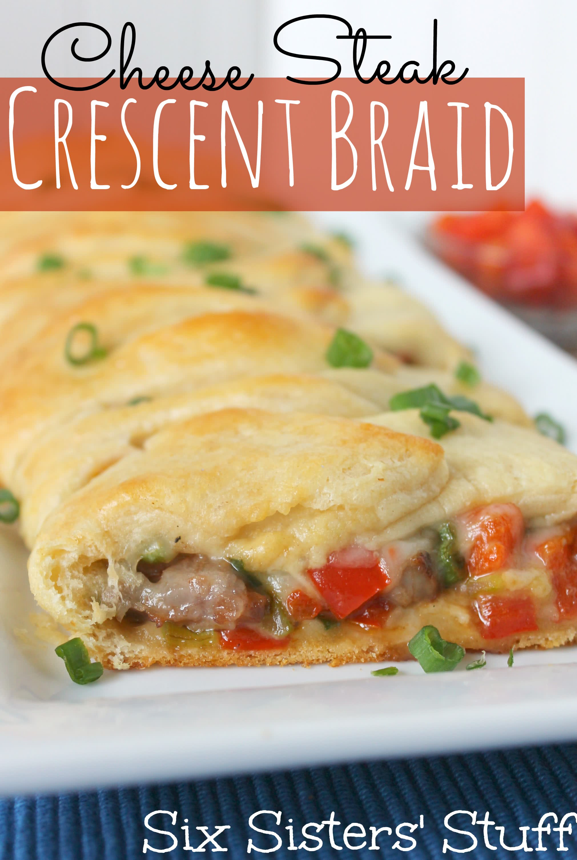 Cheese Steak Crescent Braid Recipe