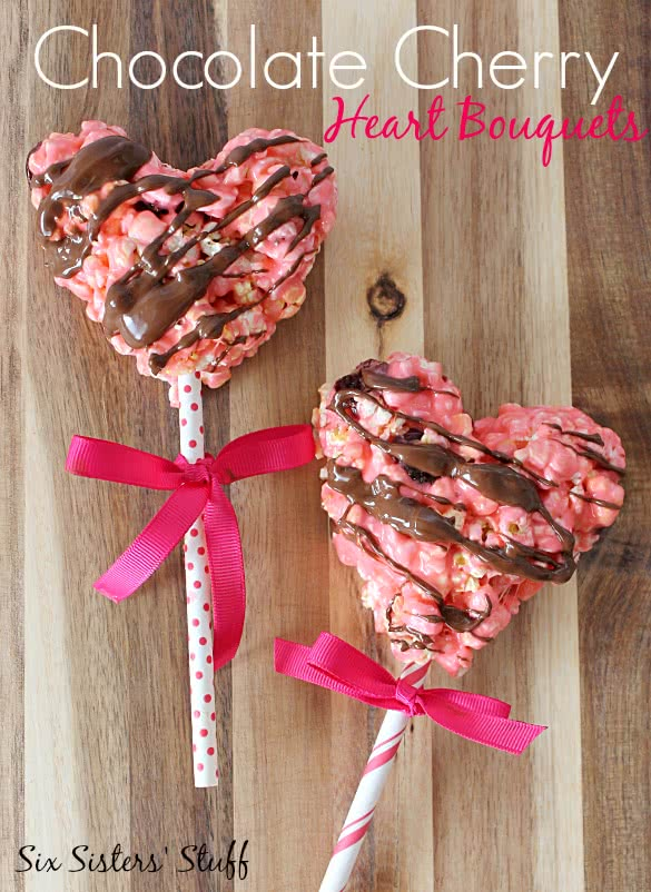 Chocolate Cherry Heart Bouquets