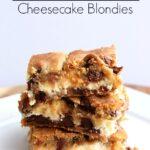 chocolate chip cheesecake blondies