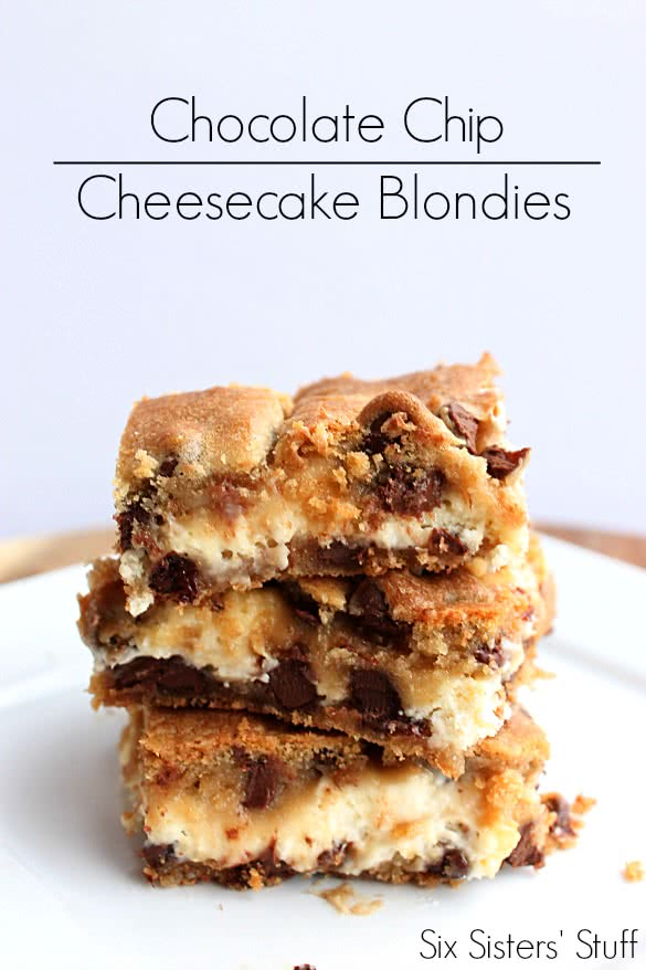 Chocolate Chip Cheesecake Blondies Recipe