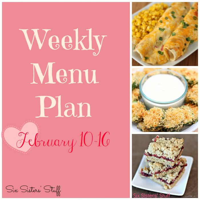 Weekly Menu Plan February 10-16