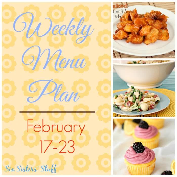 Weekly Menu Plan February 17-23