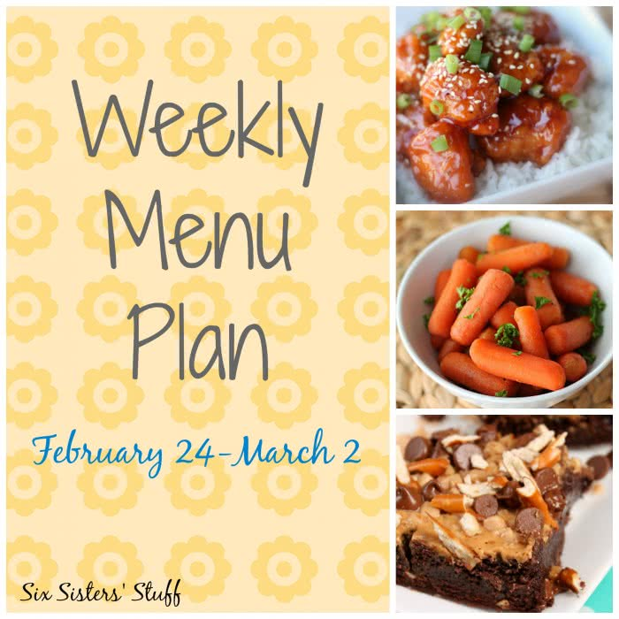 Weekly Menu Plan February 24-March 2