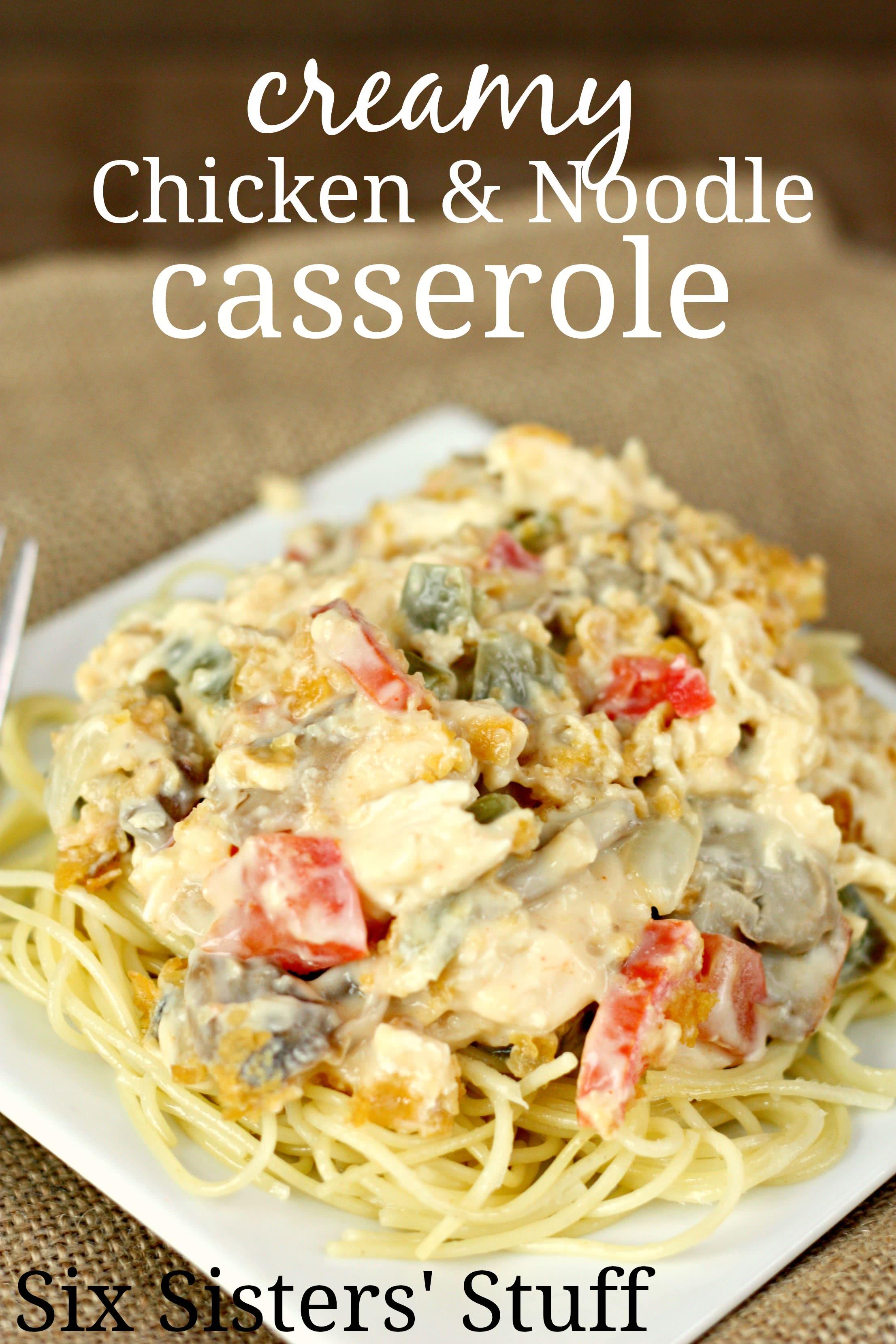 Creamy Chicken and Noodle Casserole
