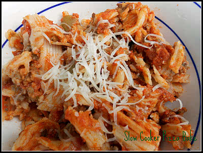 Slow Cooker Pizza Bake Recipe {Freezer Meal}