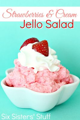 Strawberries and Cream Jello Dessert Salad Recipe