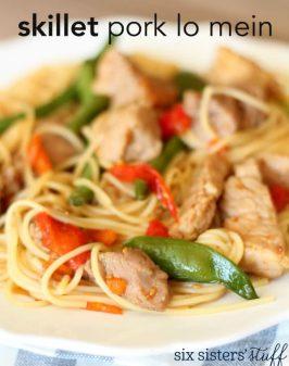 20-Minute Skillet Pork Lo Mein Recipe