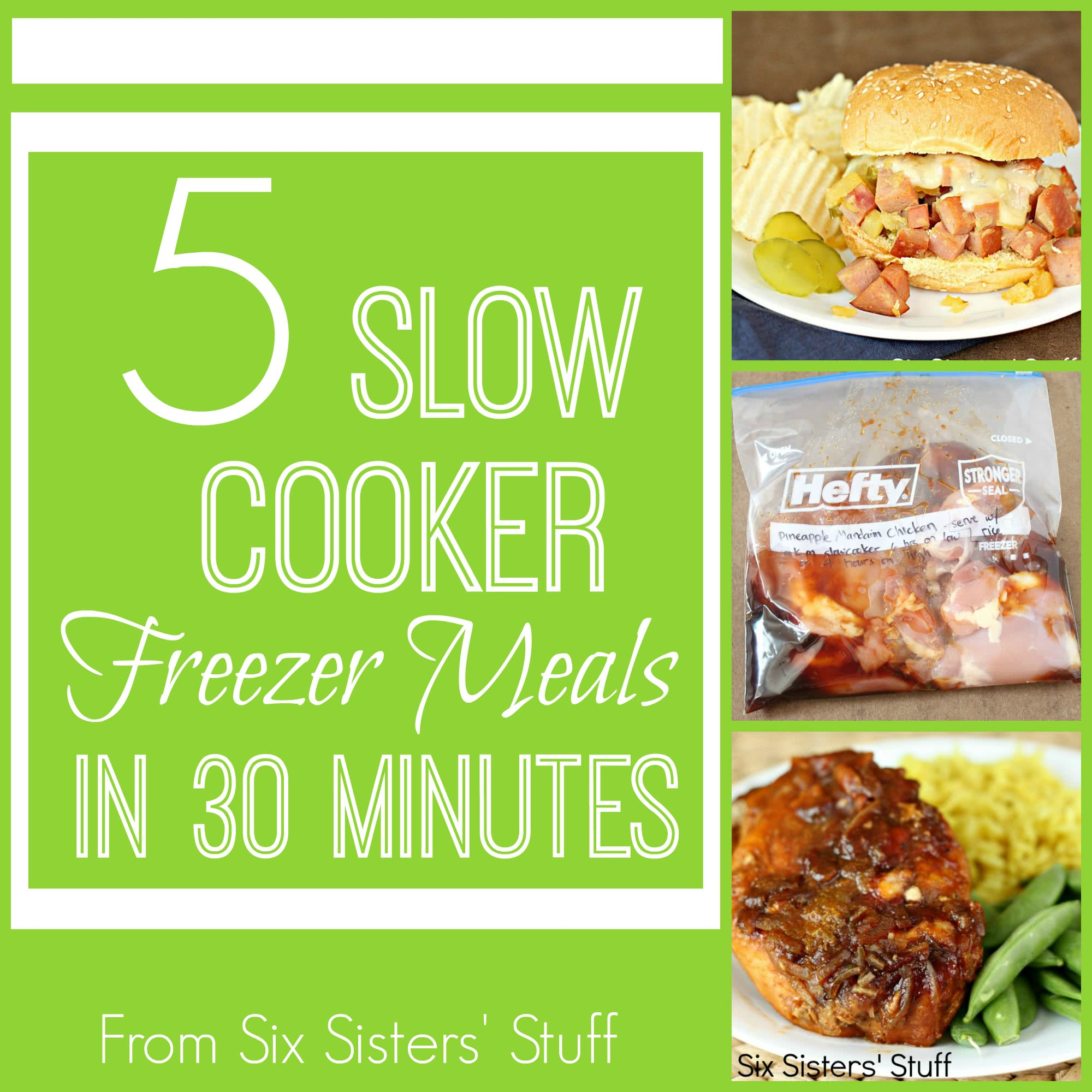 5 Slow Cooker Freezer Meals in 30 Minutes