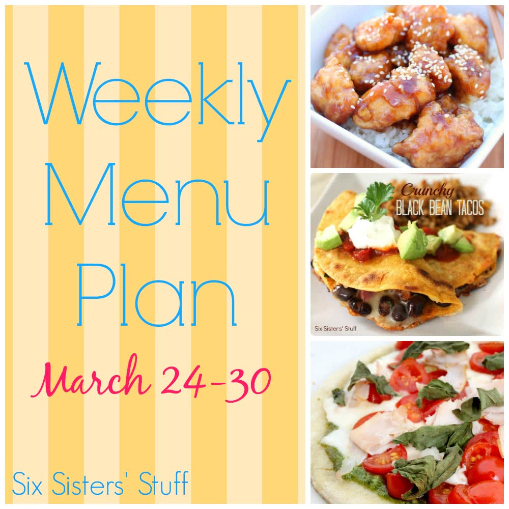 Weekly Menu Plan March 24-30